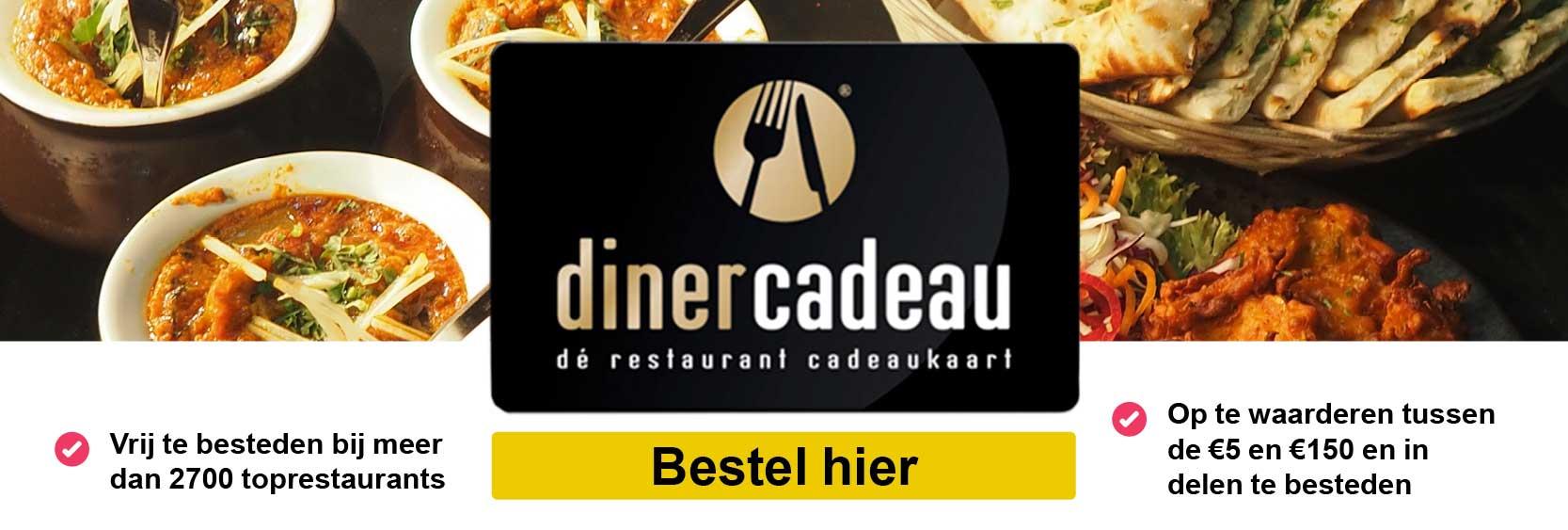 Verrassend Online een dinerbon of dinercadeaukaart kopen? |Dinercheque vind u hie OF-54